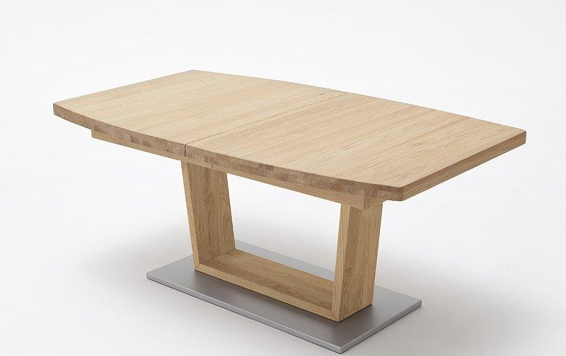 Rozkládací jídelní stůl z přírodního dubového masivu CANTANIA B