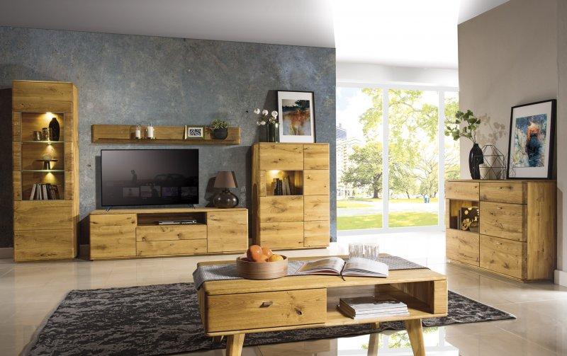 Dubový nábytek z masivu do obývacího pokoje a jídelny - DALLAS 2 dub olejovaný