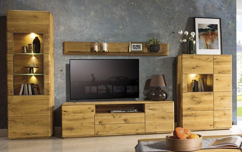 Dubový nábytek z masivu do obývacího pokoje a jídelny - DALLAS dub olejovaný