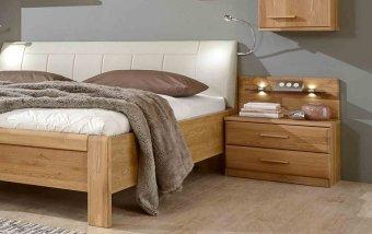 Noční stolek TOLEDO dub masiv/dubová dýha