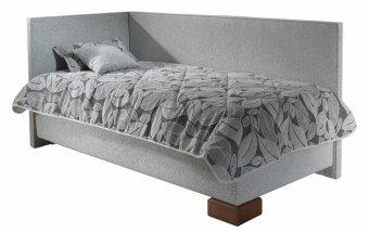 Čalouněná postel s úložným prostorem QUATRO 90x200 levá varianta