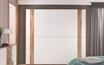 Skříň s posuvnými dveřmi ADITA dub Stirling/bílá