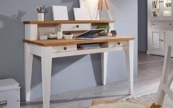 Psací stůl z masivu CORRENS borovice bílá