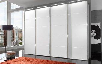 Šatní skříň s posuvnými dveřmi WESTSIDE alpská bílá/chrom