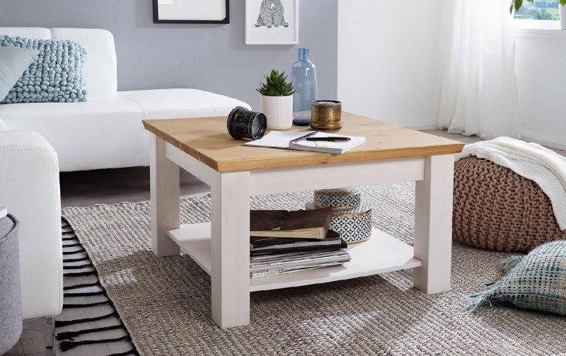 Konferenční stolek I z masivu CORRENS borovice bílá/medová
