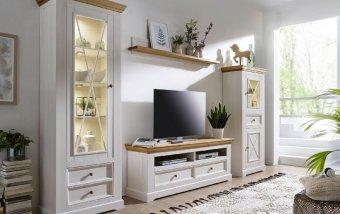 Nábytek do obývacího pokoje z masivu CORRENS 1 borovice bílá