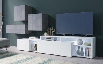Moderní obývací stěna VENTO (typ 12) beton colorado