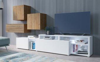 Moderní obývací stěna VENTO (typ 12) dub Grandson