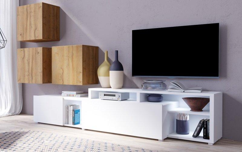 Moderní obývací stěna VENTO (typ 09) dub Grandson