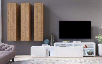 Moderní obývací stěna VENTO (typ 10) dub Grandson
