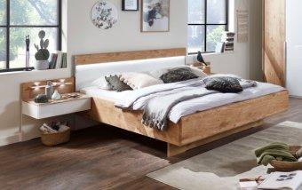 Moderní postel AMARILLO bílá LESK/dub balken
