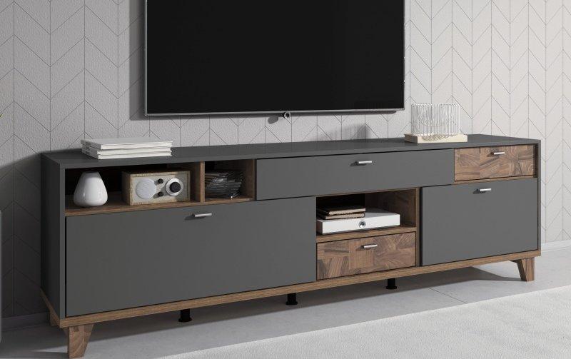 Televizní komoda MOVE (typ 40) šedá/ořech palazzo
