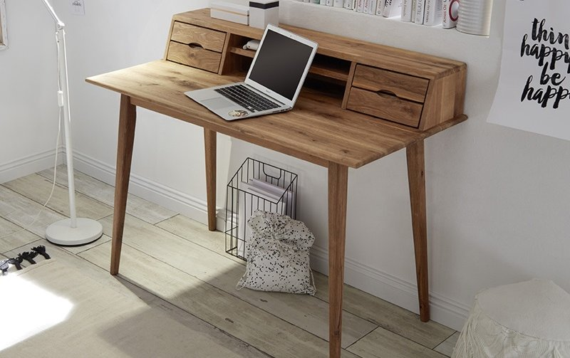 Dřevěný psací stůl MELBOURNE dub sukatý