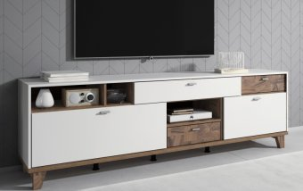 Televizní komoda MOVE (typ 40) bílá/ořech palazzo