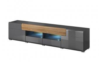 Televizní komoda TOLEDO (typ 40) dub Grandson/šedý lesk