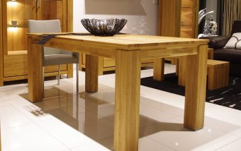 Jídelní stůl z dubového masivu - FARO dubový jídelní stůl 160x90 (typ 60)