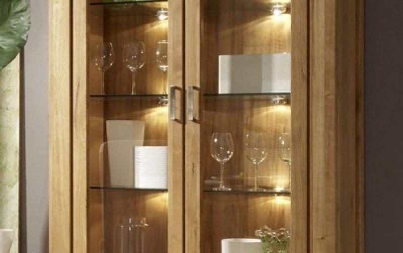 Vitrína z dubového masivu - FARO dubová vitrína 2D (typ 12)