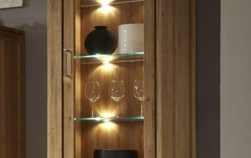 Vitrína z dubového masivu - FARO dubová vitrína pravá (typ 11)