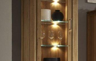 Vitrína z dubového masivu - FARO dubová vitrína levá (typ 10)