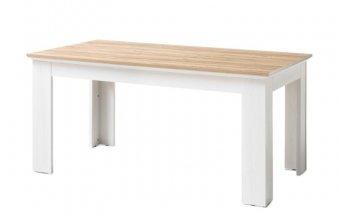 Jídelní stůl CLEVELAND bílá/dub divoký
