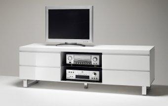 VÝPRODEJ: Moderní TV stolek SYDNEY bílá/bílý lak