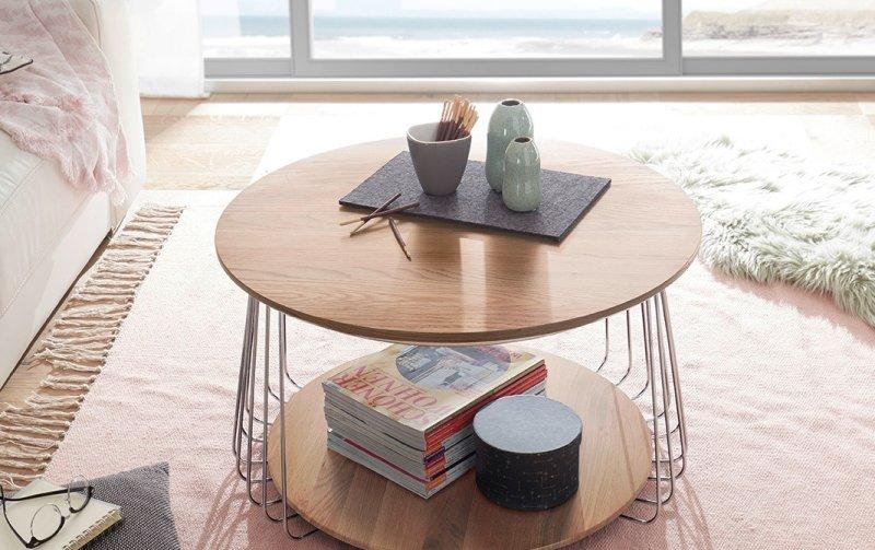 Konferenční stolek z dubového masivu VILNIUS II
