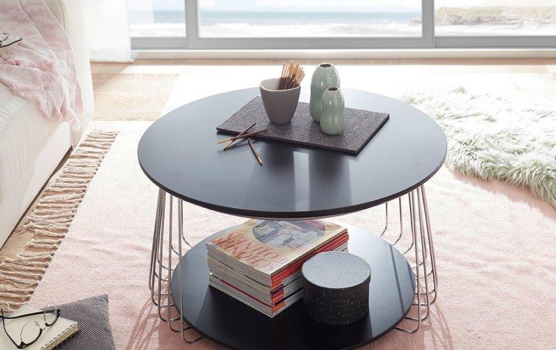 Černý konferenční stolek z lamina VILNIUS II