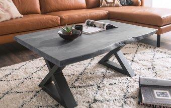 Konferenční stolek z masivu CARTAGENA akát/šedý lak
