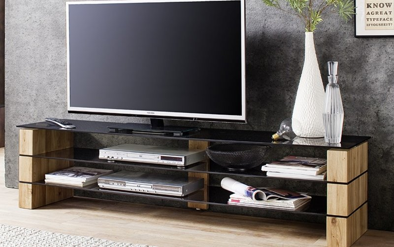 Televizní stolek KARI dub masiv