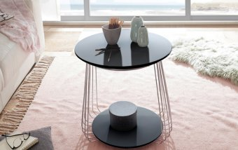 Černý konferenční stolek z lamina VILNIUS