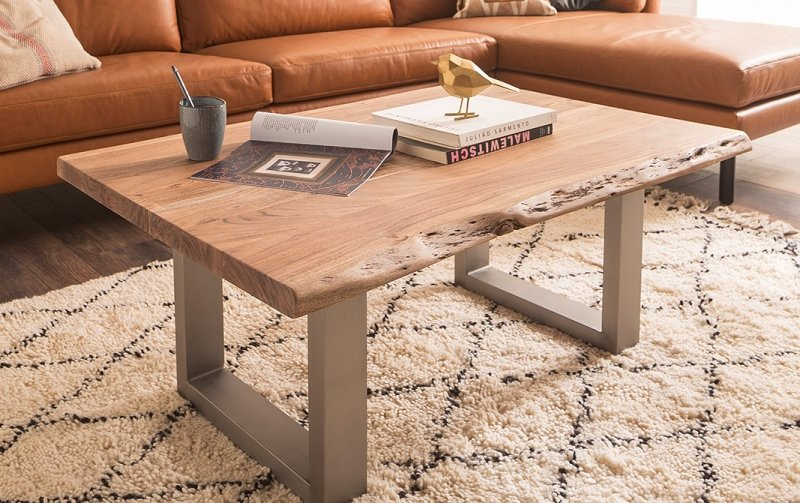 Konferenční stolek z masivu CARTAGENA akát/lak přírodní