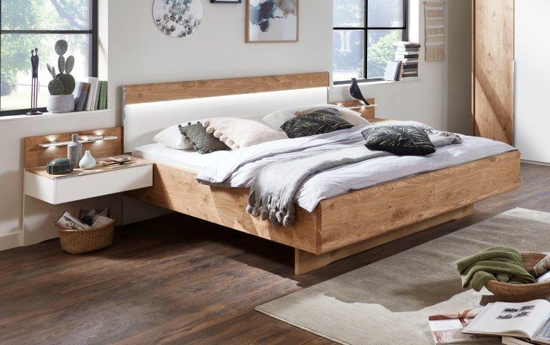 Moderní postel AMARILLO bílá MAT/dub balken
