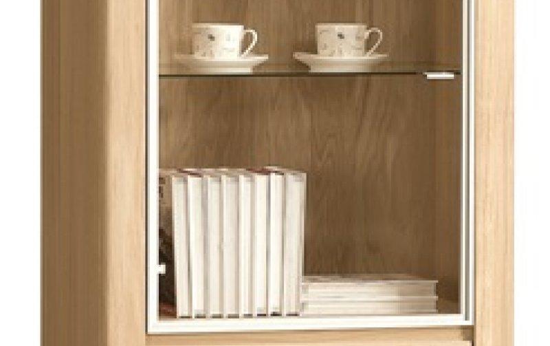 ORLANDO/ROLANDO dubová vitrína levá typ10 dub bianco