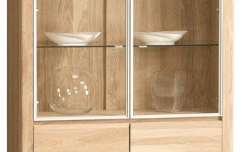 ORLANDO/ROLANDO dubová vitrína 2D typ 12 dub bianco
