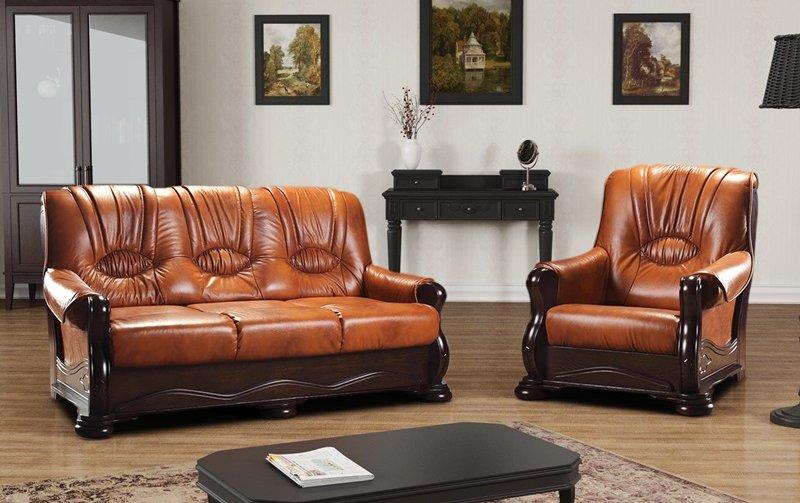 Klasická kožená sedací souprava RAMZES 3+1+1