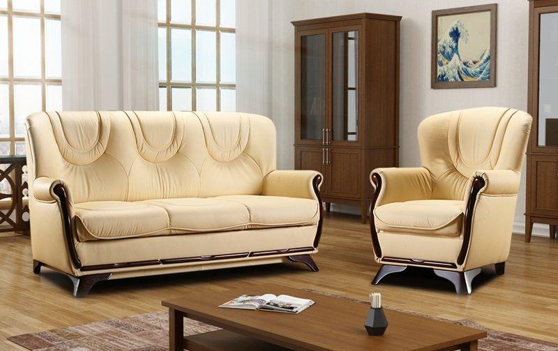 Klasická kožená sedací souprava FREDERIK 3+1+1