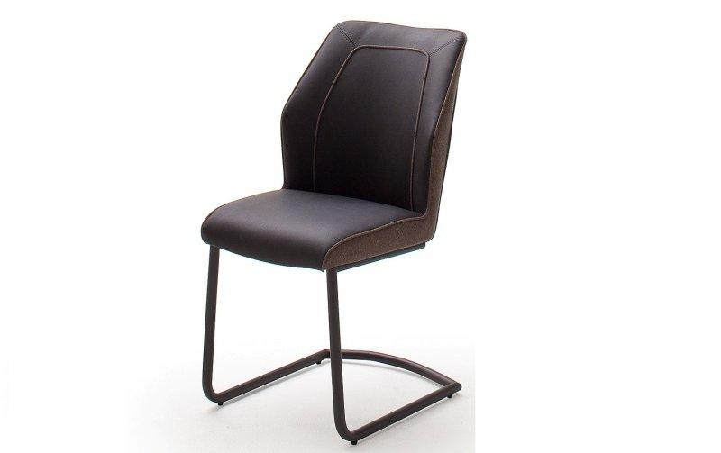 Židle jídelní ABERDEEN ekokůže/hnědá