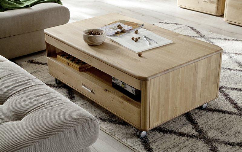 Konferenční stolek RAVELLO dub bělený