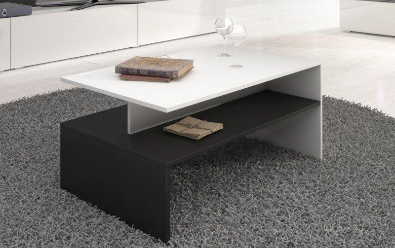 Konferenční stolek BAROS bílá/bílý lesk