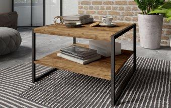 Konferenční stolek TARABO Appenzellský smrk/černý mat