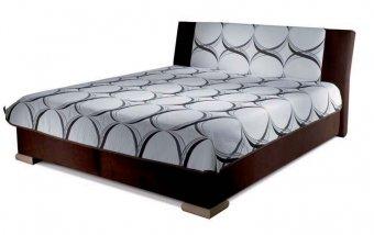 Čalouněná postel ADELE 160x200 s matrací BAZI a pevným roštem