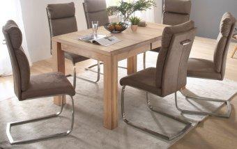Jídelní set pro 6 osob - stůl ANTON + židle RABEA