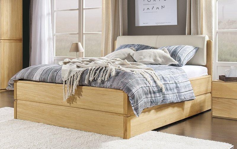 Dubová postel 160x200 ATLANTA/Helsinki dub přírodní