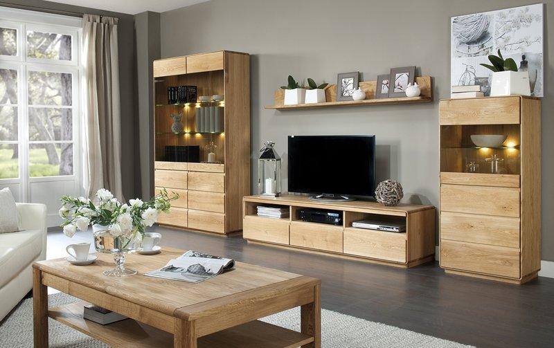 Dubový nábytek z masivu do obývacího pokoje ATLANTA/Helsinki