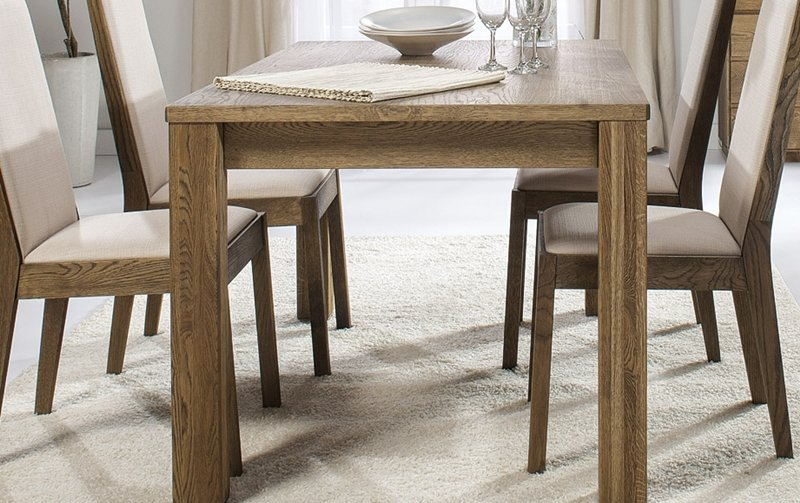 Dubový jídelní stůl rozkládací 90x140-200 ATLANTA/Helsinki 42 dub pálený