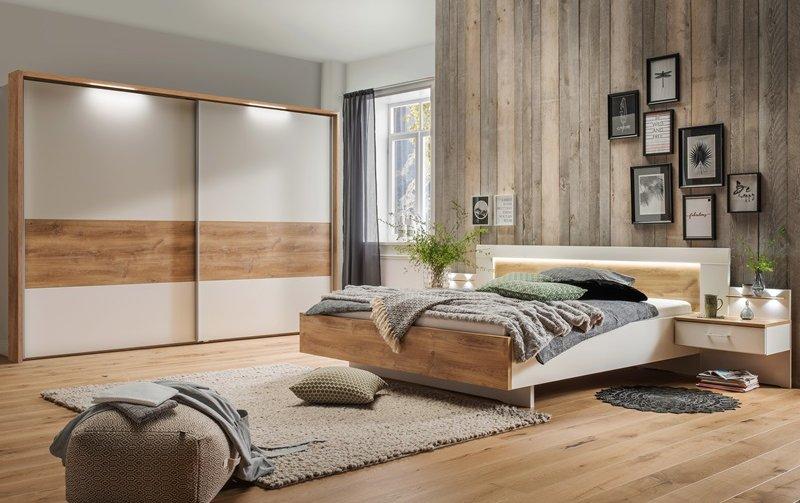 Moderní ložnice BILBAO 3 alpská bílá/dub