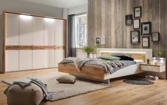 Moderní ložnice BILBAO 2 alpská bílá/dub