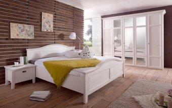 Bílá ložnice z masivu CAS 69 borovice bílá