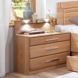 Noční stolek CORTINA dub masiv/přírodní dýha