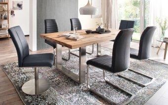 Jídelní set pro 6 osob - stůl CASTELLO+ židle FLORES